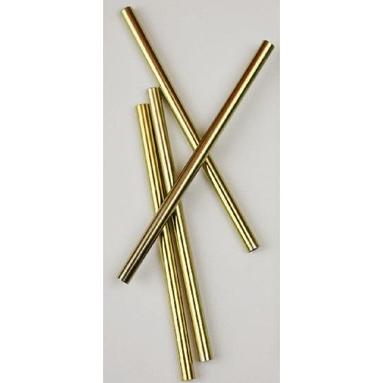 Metal Straws 5'' Gold 4pc