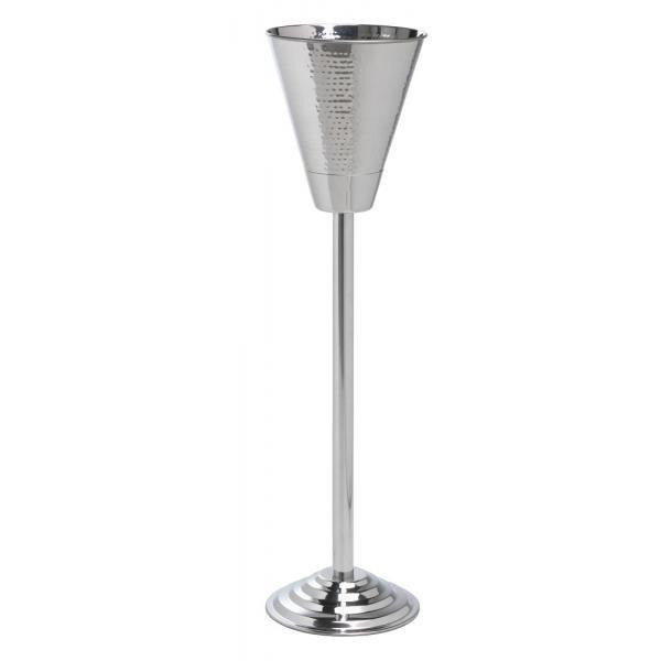 Champagne Bucket & Stand Hammered Finish - BartechCo