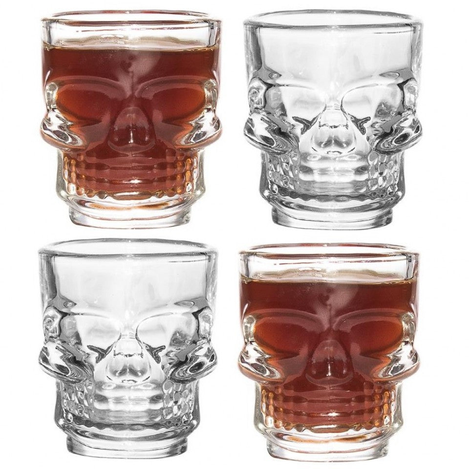 SKULL SHOT GLASSES 4 PACK 50ml - BartechCo