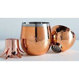 Pineapple Cocktail Shaker Copper