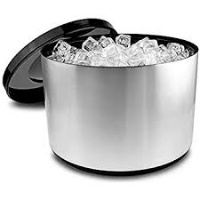 Plastic Ice Bucket Brushed – Aluminium Effect - BartechCo