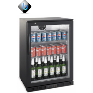 Beer Bottle Cooler Single Door (Black)- Bar Fridge, Undercounter - BartechCo