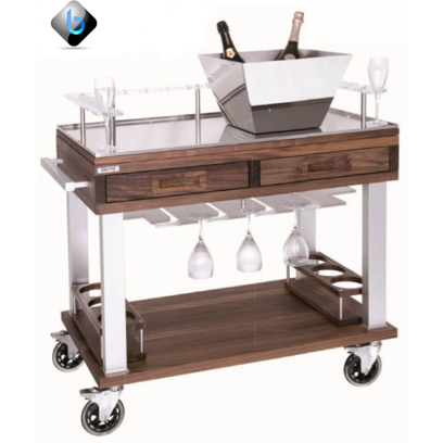 NATURE Champagne Trolley - BartechCo