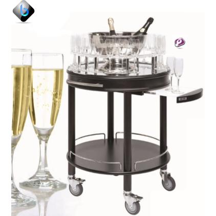 ROMA ROUND Champagne and Liquor Trolley - BartechCo