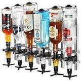 Single Pillar Portable 6 Bottle Stand – Heavy Base 70cl/1 litre