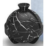 Single Sphere Mold Marble Black