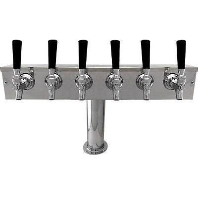 "Six Faucet T Tower 4"" Column S Steel - BartechCo"
