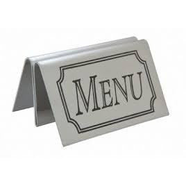 Stainless Steel Tent Type Menu Holder - BartechCo