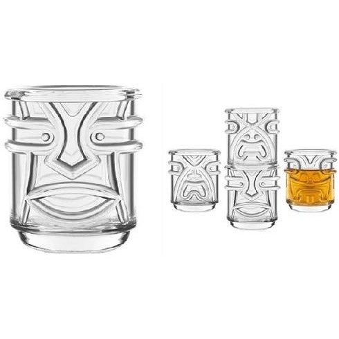 Tiki Tumbler Clear 4pc