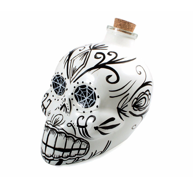 Mixology Day of the Dead Decanter White - BartechCo
