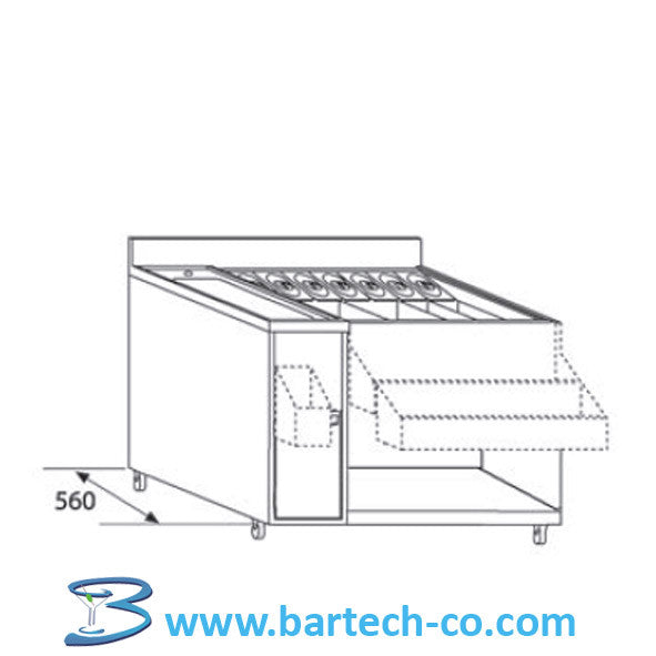 Cocktail Unit With Single Bowl - BartechCo