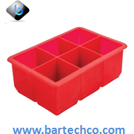 "6 Cavity Ice Cube Mould 2"" - BartechCo"