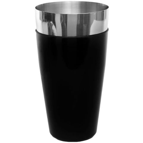 Black Vinyl Coated Shaker Can (28oz) - BartechCo