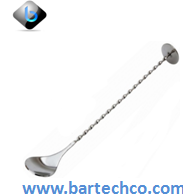 "Cocktail Spoon With Masher 11"" - BartechCo"