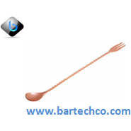 MEZCLAR COCKTAIL SPOON COPPER PLATED WITH FORK 30CM - BartechCo