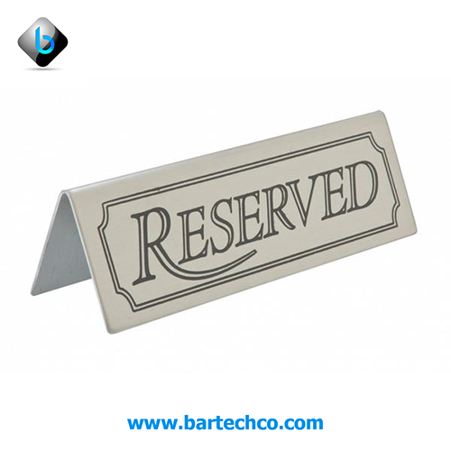 Reserved Table Sign Stainless Steel