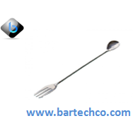 MEZCLAR COCKTAIL SPOON WITH FORK STAINLESS STEEL  30CM