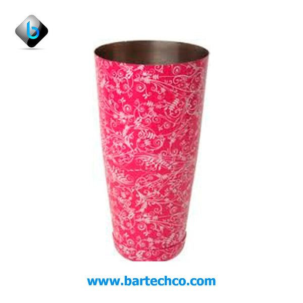 MEZCLAR BOSTON CAN PINK FLORAL 28oz - BartechCo
