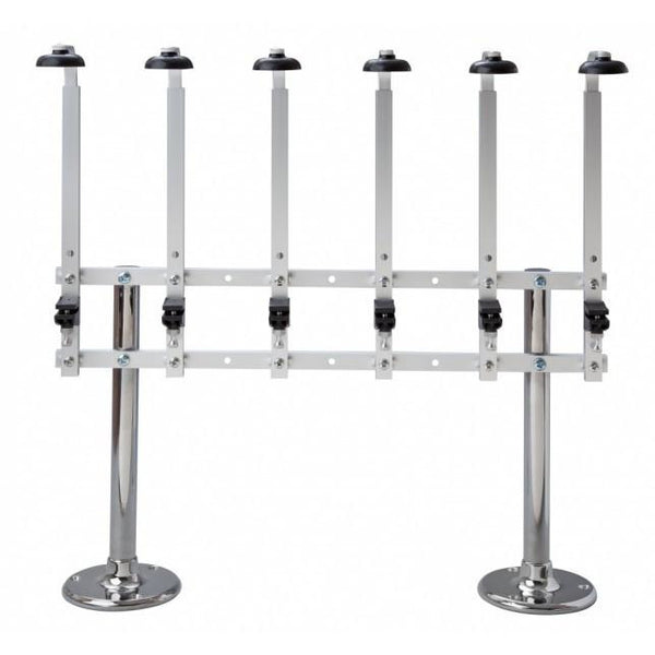 TWO PILLAR SIX BOTTLE STAND