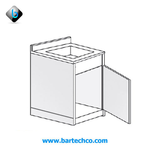Counter W / Square Bowl - BartechCo