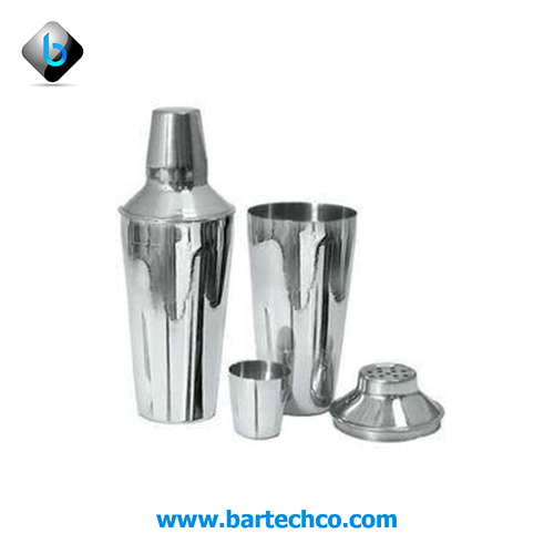 REGULAR COCKTAIL SHAKER STAINLESS STEEL 750ML (3PCS) - BartechCo