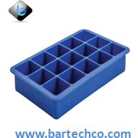 Blue Silicone Ice Mould 15 Section - BartechCo