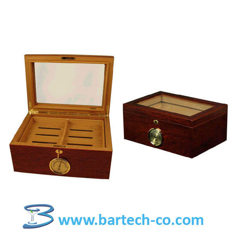 Cigar Humidors-Glass Top