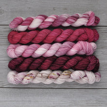 Load image into Gallery viewer, Wuv, Twu Wuv  |  Princess Bride Theme  |  MINI skein set of 5  |  SHEARsheep  |  fingering weight