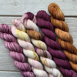 Royal Realm  |  MINI skeins set of 5  |  SHEEPISHsock  |  fingering weight