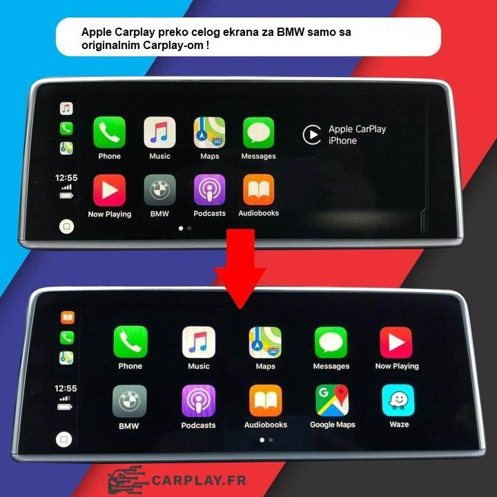 Carplay na celom ekranu na mom BMW-u