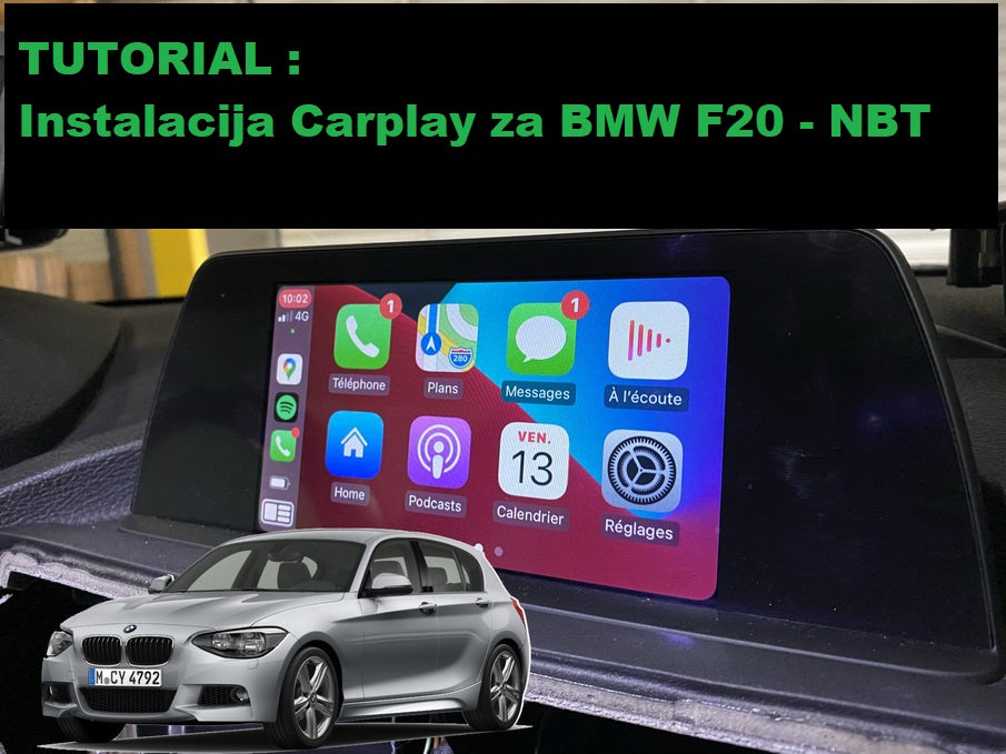 Tutorijal za instalaciju Carplay-a za BMW F20 sa NBT sistemom