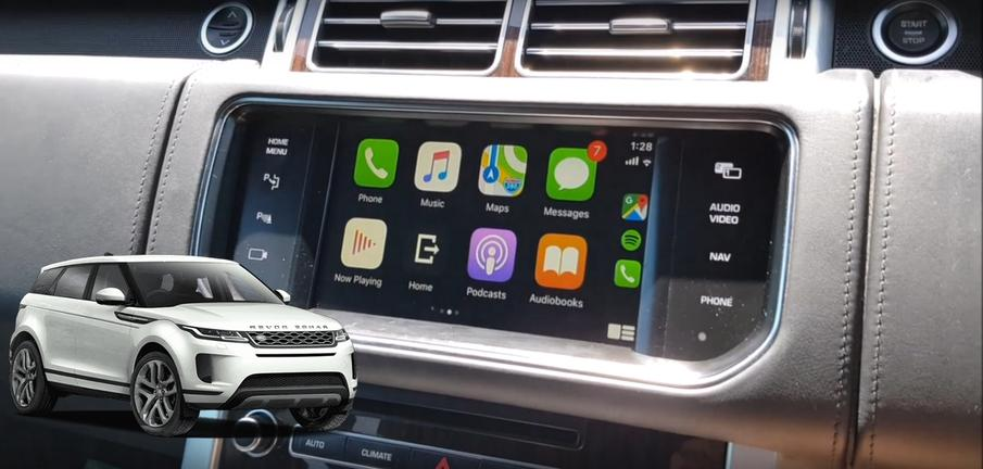 Apple Carplay u mom Range Rover Evoque