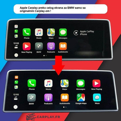 Apple Carplay preko celog ekrana