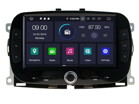 autoradio gps carplay fiat 500