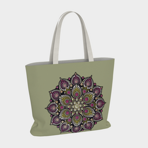 The Heart of an Autistic Large Basic Tote Bag - Christina Lee Dot Meditation Âû