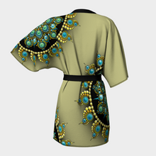 Load image into Gallery viewer, Hope and Justice Kimono Robe - Yellow - Christina Lee Dot Meditation Âû