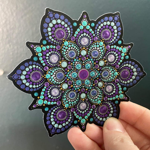 High Frequency Mandala Sticker