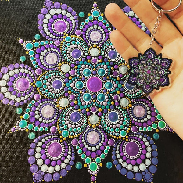 High Frequency Mandala Acrylic Keychain
