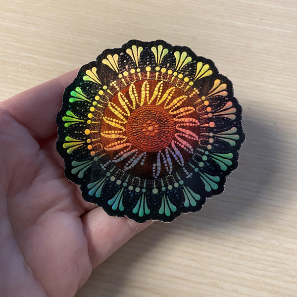 COVID-19 Holographic Mandala Sticker