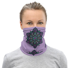 Load image into Gallery viewer, High Frequency Neck Gaiter - Lavender - Christina Lee Dot Meditation Âû