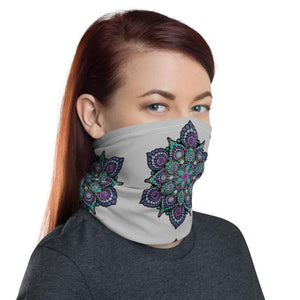 High Frequency Neck Gaiter - Gray - Christina Lee Dot Meditation Âû