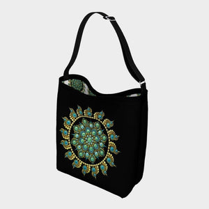 Hope and Justice Day Tote Black - Christina Lee Dot Meditation Âû