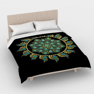 Hope and Justice Duvet Black - Christina Lee Dot Meditation Âû