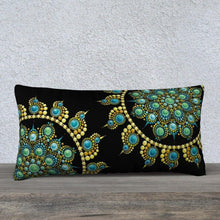 "Load image into Gallery viewer, Hope and Justice 24"" x 12"" Pillow Case Black - Christina Lee Dot Meditation Âû"