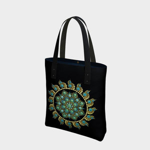 Hope and Justice Urban Tote Bag Black - Christina Lee Dot Meditation Âû