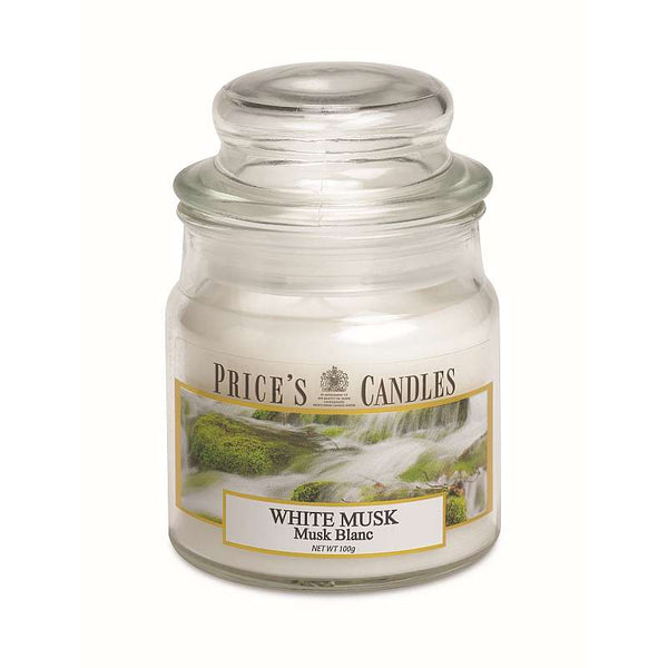 Price's Candle Candela Piccola - White Musk - 100 Gr.