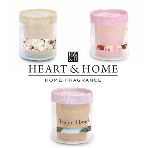 Heart & Home - Set di 3 Candele in Cera di Soia - 53 Gr.