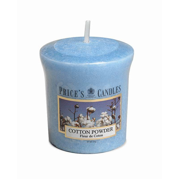 Price's Candle Candela Votiva - Cotton Powder - 58 gr.