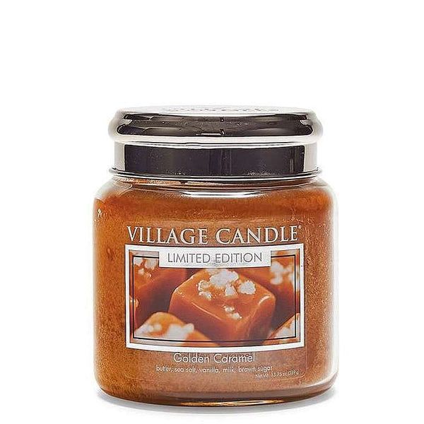 Village Candle Candela Media - Golden Caramel - 389 Gr.