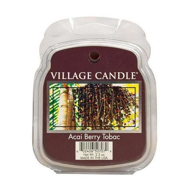 Village Candle Melt Cera - Acai Berry Tobac - 57 Gr.